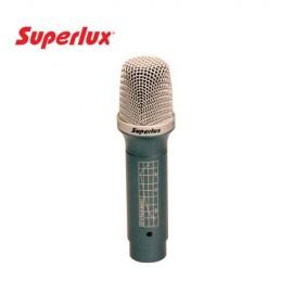 MICROFONE DINÂMICO SUPER CARDIÓIDE PARA TONS SUPERLUX PRA-228-A