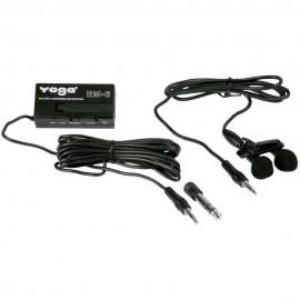 Em6 - Microfone C/ Fio Lapela Duplo Em 6 - Yoga