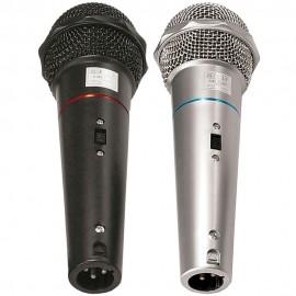 Microfones Dinâmicos com Cabo de 4 Metros CSR-505 (Kit 2 pçs)