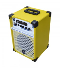 CAIXA DE SOM MULTIUSO LEACS TURBOX TB-200 (amarela)