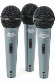 KIT COM 3 MICROFONE VOCAL SUPERLUX ECO 88S